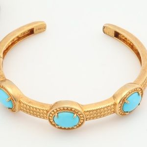 Jewelry - Sterling silver with gold wash bracelet.